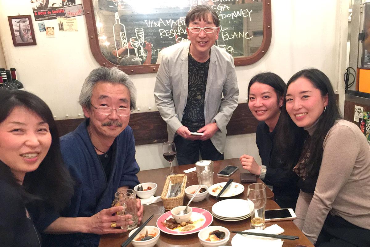 伊東豊雄×鹿島和生トークセッション 懇親会の様子